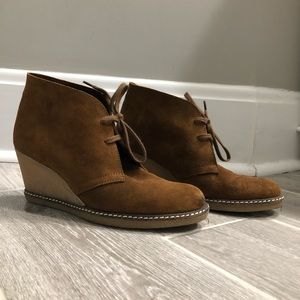 J Crew Leather Wedge boots